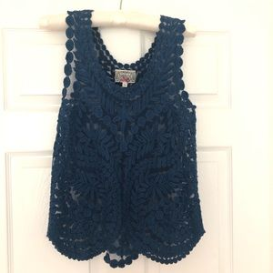 Blue Lace Anthropologie Tank
